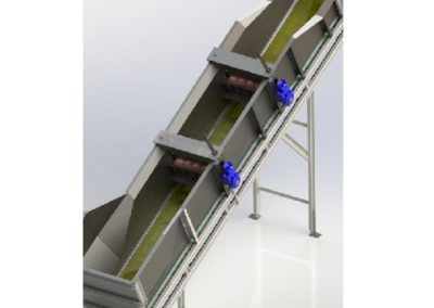 PVC Belt Elevator with Metering Wheels