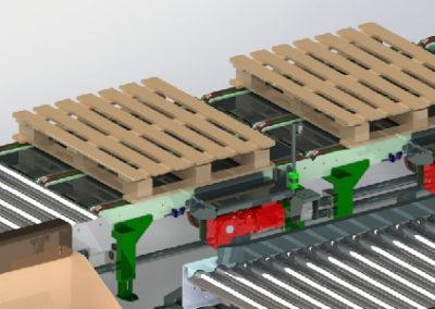 Pallet roller & chain conveyor