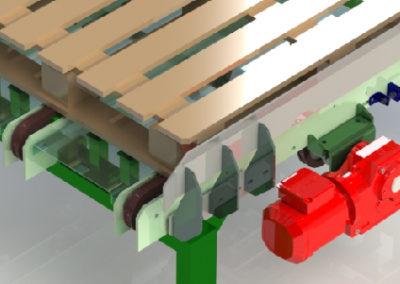 Pallet 3-lane chain conveyor
