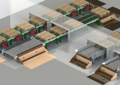 Pallet chain conveyors