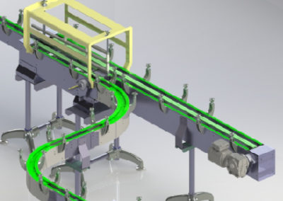 Slatchain conveyor with manual diverter gate